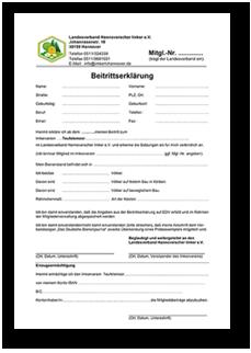 Beitrittserklärung Imkerverein ab 2018